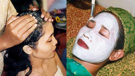 Facial and hair spa